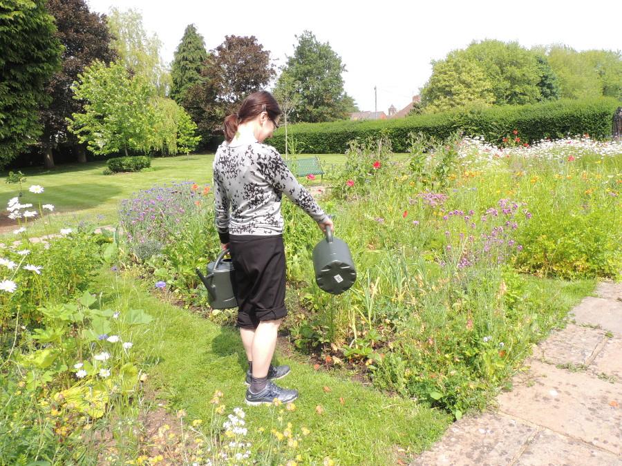 Jo watering June 2015-900x675